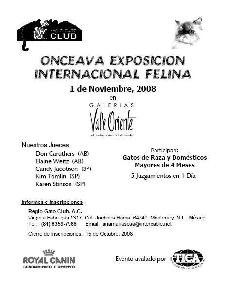 Onceava Expo Internacional Felina - Monterrey