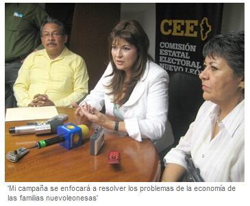 Martha Zamarripa en la CEE, El Porvenir 6 de abril 2009