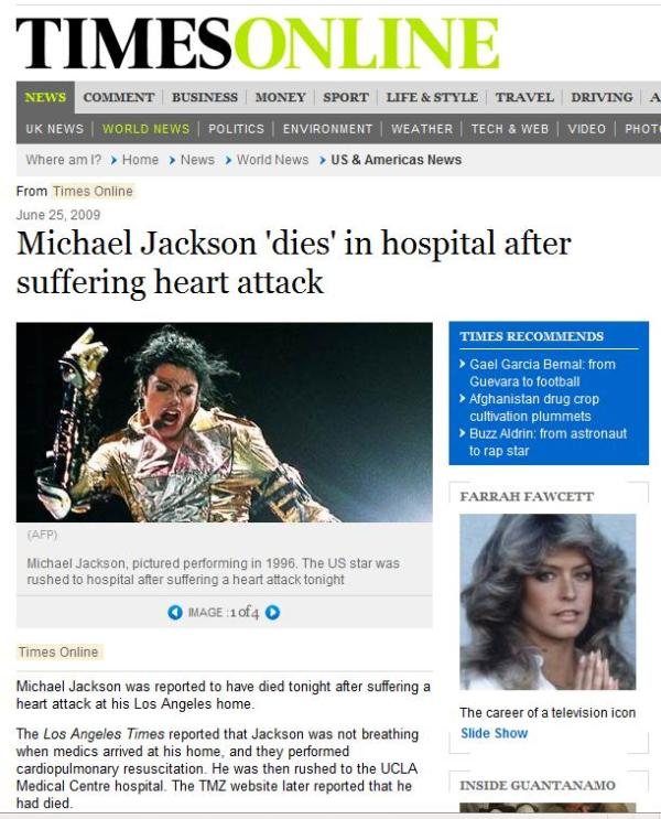 times online uk mj