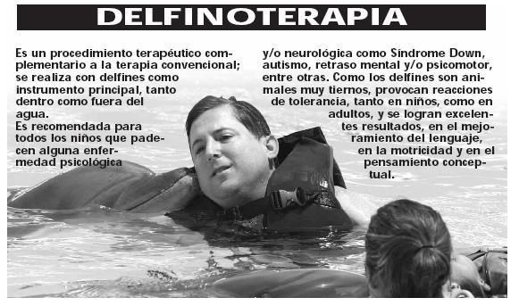 Delfinoterapia y Madedito julio 28 09 El Regio