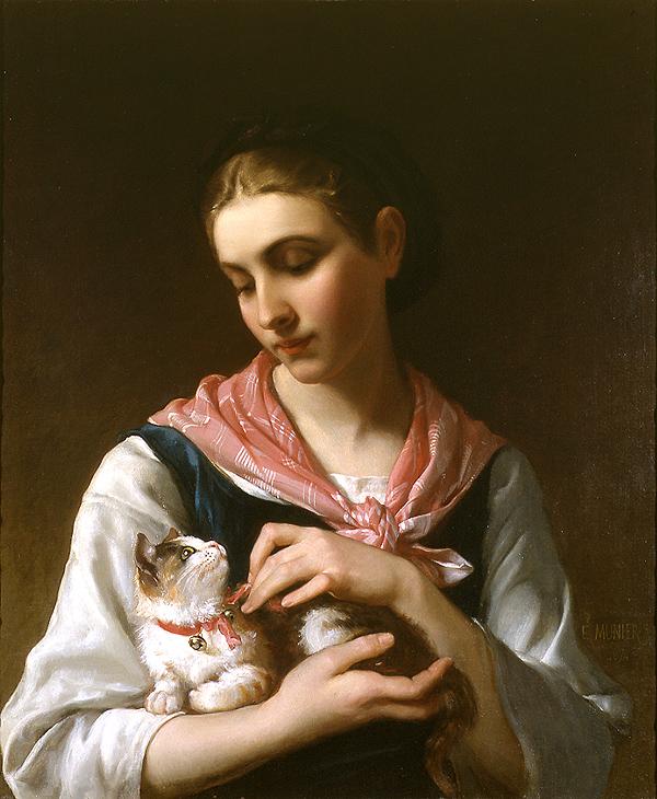 """""""Un momento especial"""", Emile Munier, óleo, 1874"""