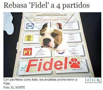"""El perro """"Fidel"""" de los anulistas"""