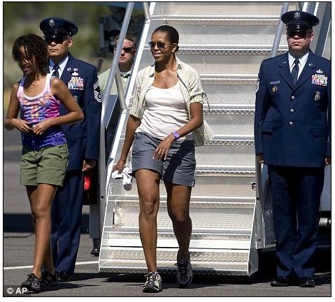 Michelle Obama y sus shorts