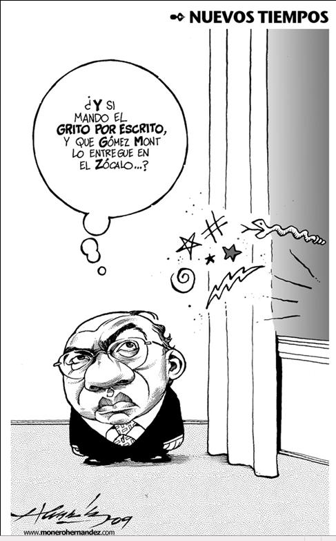 cartón de Hernández, 15 de septiembre 2009