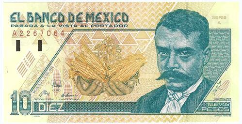 Billete Emiliano Zapata pagare NvosPesos