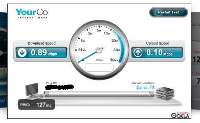 Mi velocidad de internet 25 oct 09