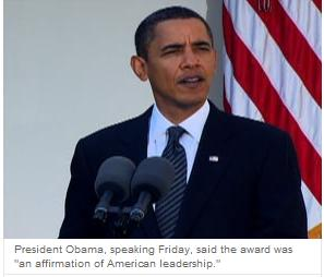 Obama premio Nobel 9 oct 2009