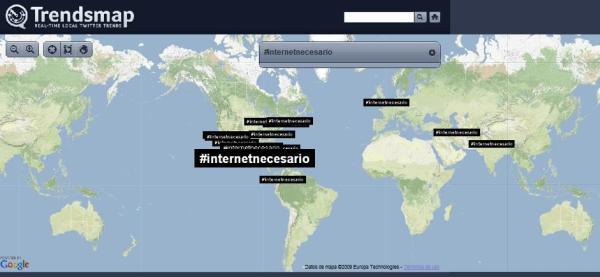 Estamos protestando al impuesto a Internet, octubre 20 del 2009